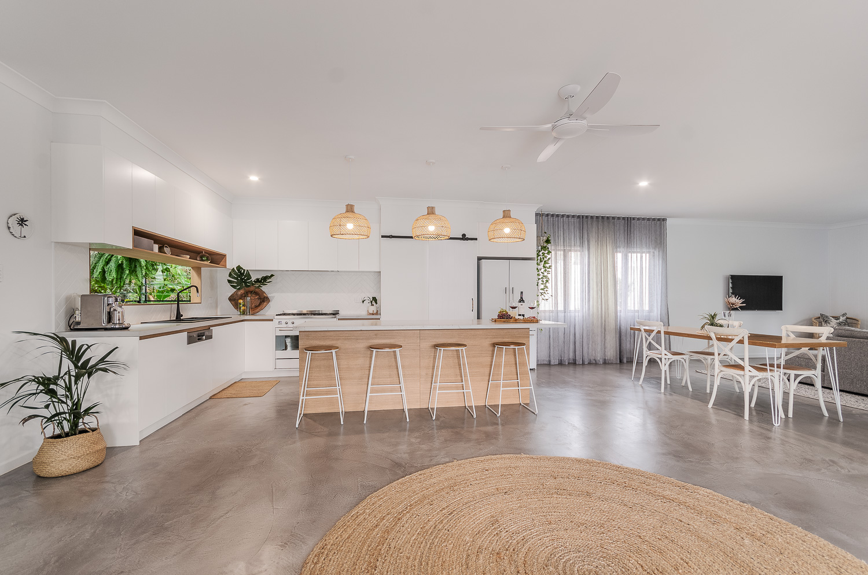 White and Wood Kitchen Design | Interior Blank
