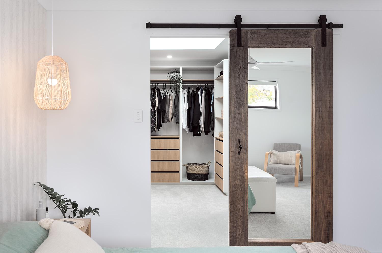 White and Wood custom wardrobe design | Interior Blank