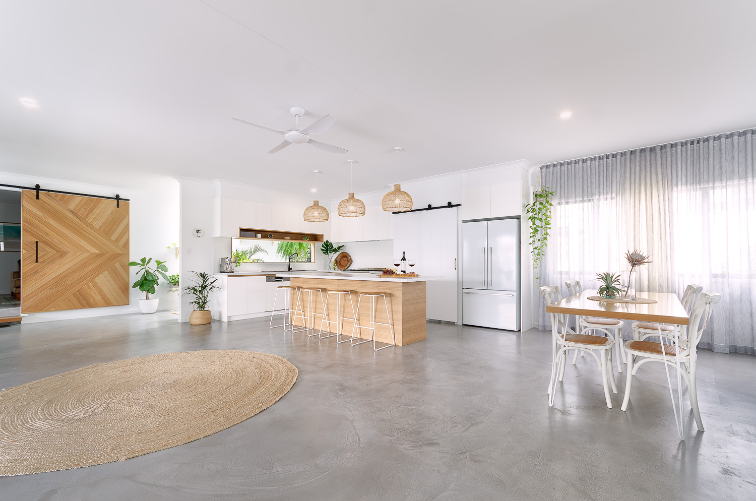 White and Wood Kitchen | Interior Blank