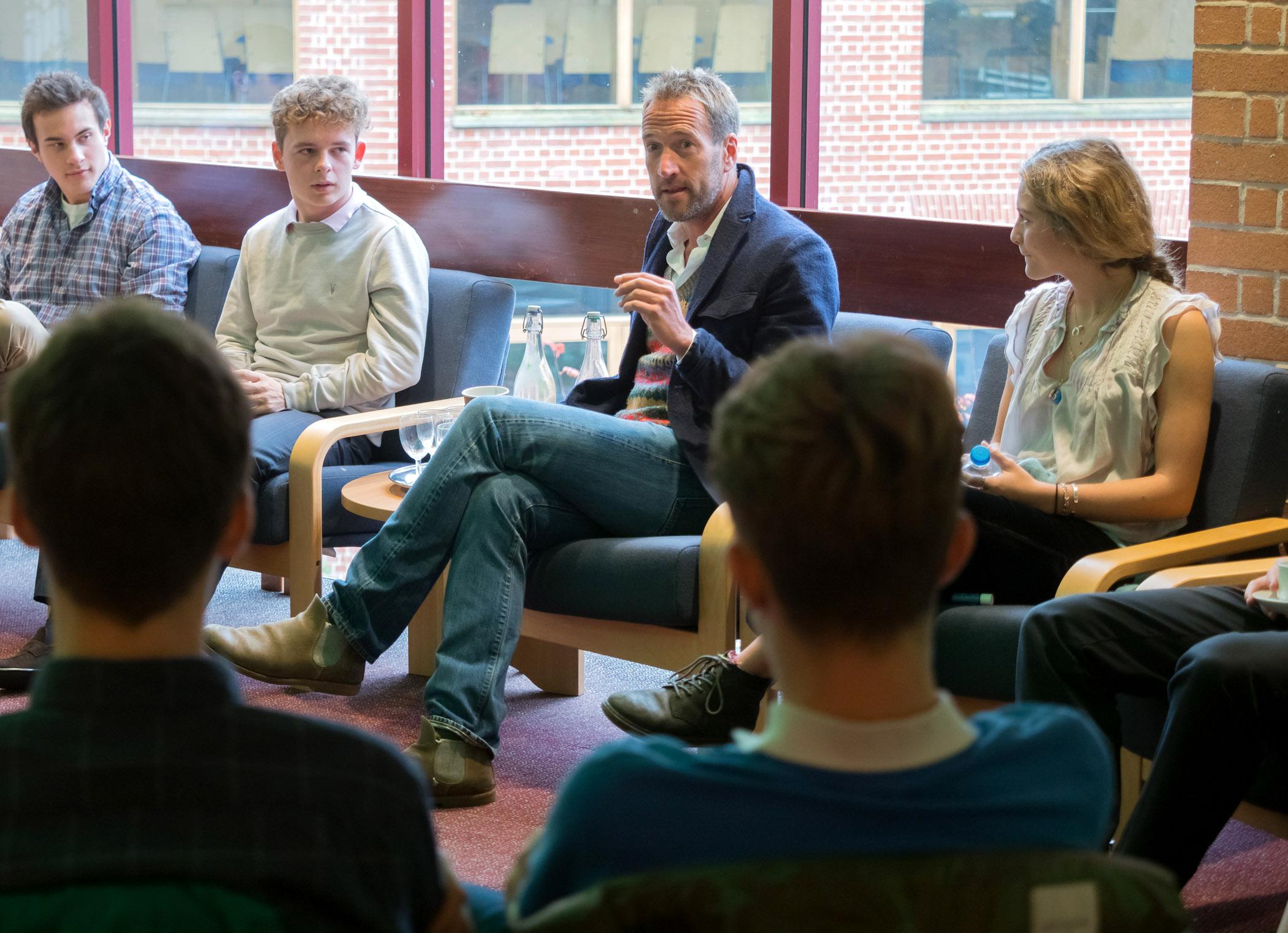Bryanston BF5 - TV star and adventurer, Ben Fogle, talks with pupils at his former school, Bryanston .jpg