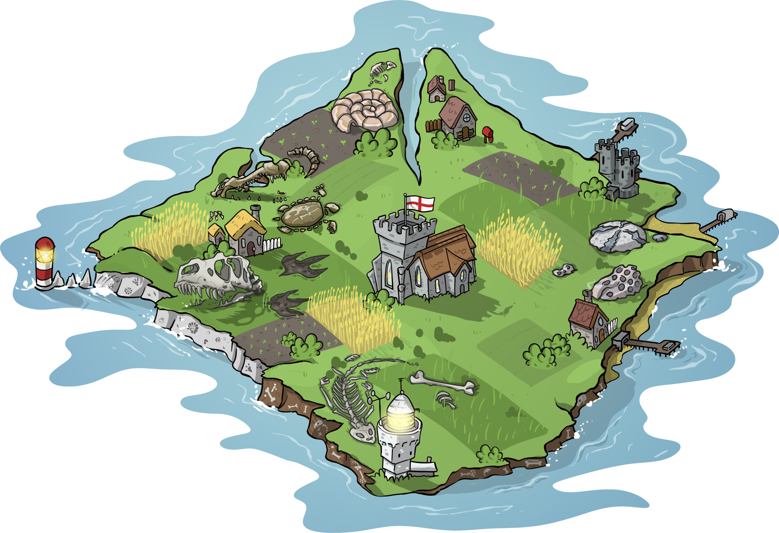 IOW Map with fossils.png