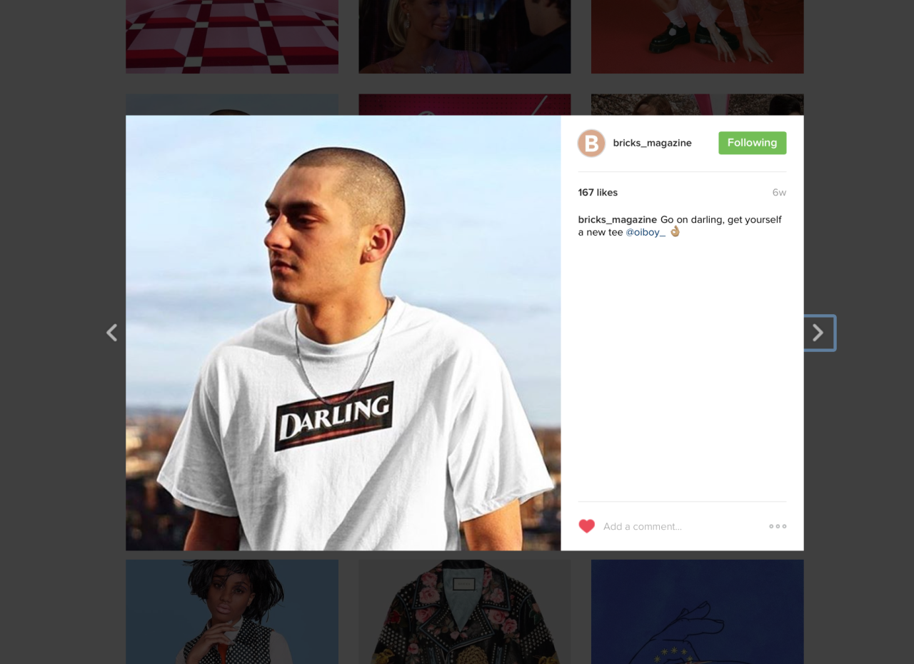 Our Darling t-shirt uploaded by  BRICKS Magazine . Check out their Instagram  here .