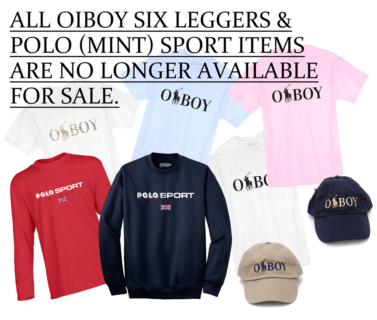 Due to matters out of our hands we can no longer have these items for sale.