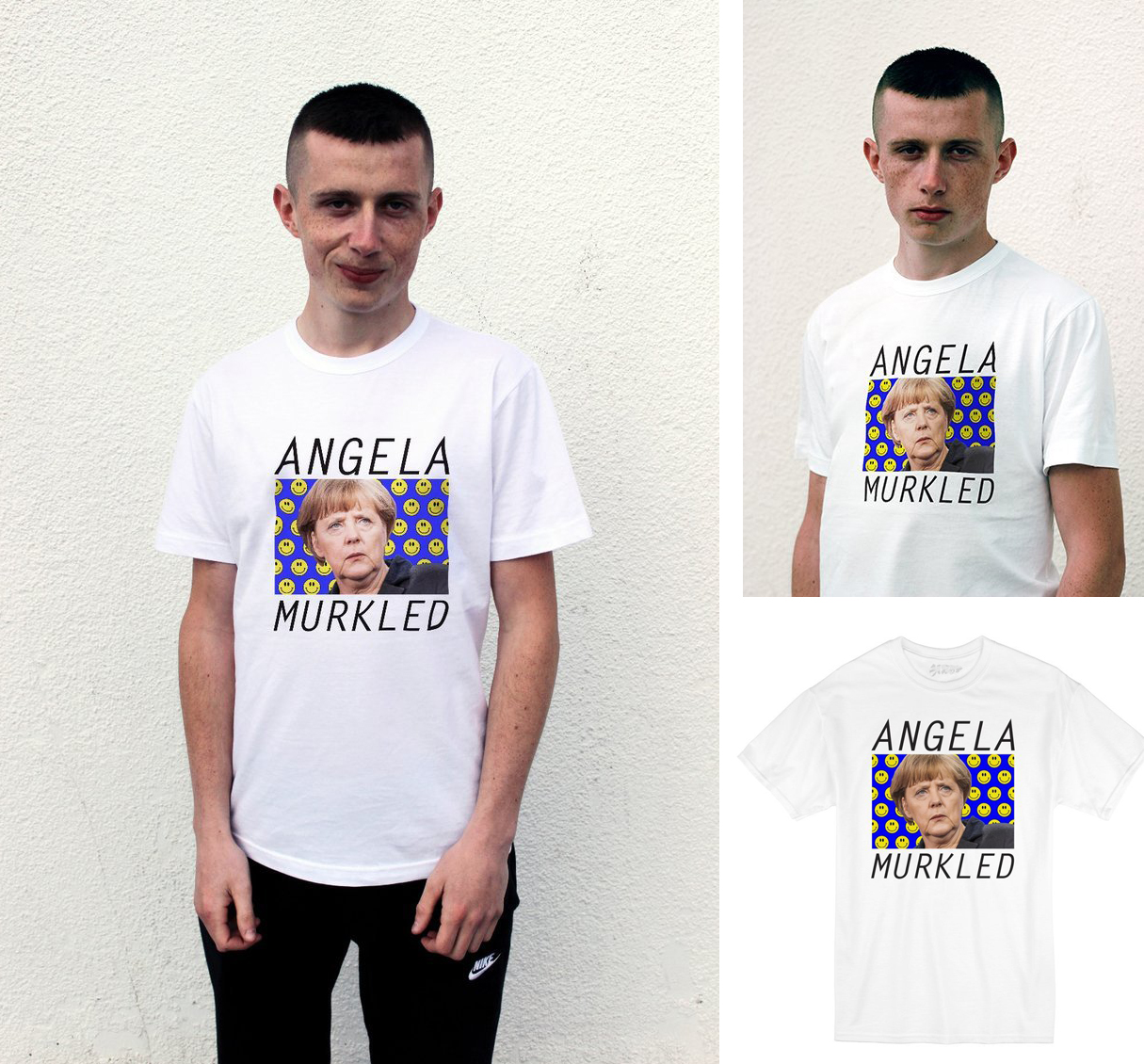 ANOTHER T-SHIRT SENT TO THE ARCHIVES. ANGELA MURKLED HAS NOW SOLD OUT WITH NO PLANS TO RESTOCK IT.