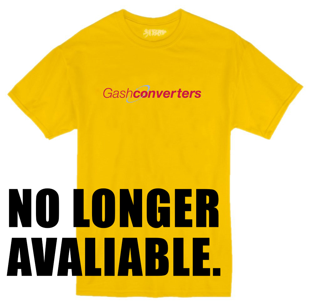 OUR 'GASH CONVERTERS' VALENTINES SPECIAL TEE HAS NOW SOLD OUT AND GONE FOREVER… AW/17 COMING SOON.