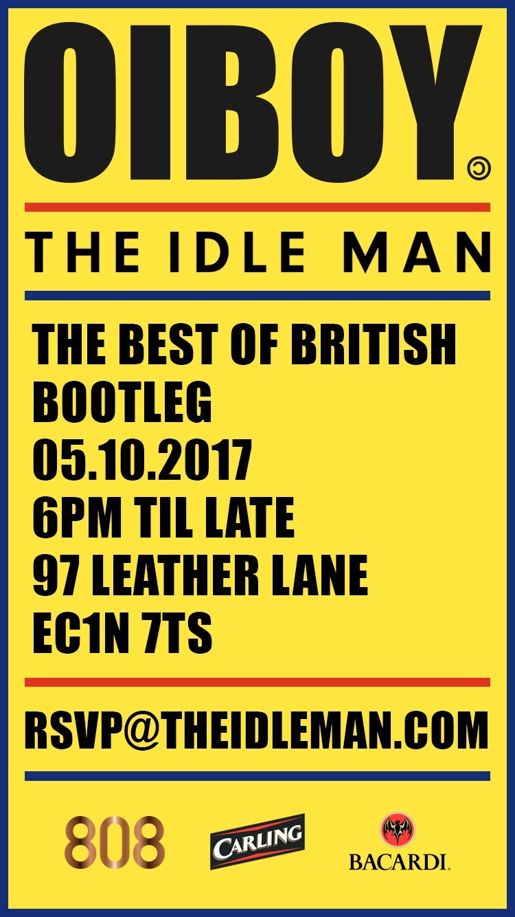 now being stocked by  THE IDLE MAN . To celebrate this we have designed and worked with them to organise a party at their store, which on the night will feature a limited edition collaborative piece. The night will be sponsored by CARLING / BACARDI BREEZERS / 808.