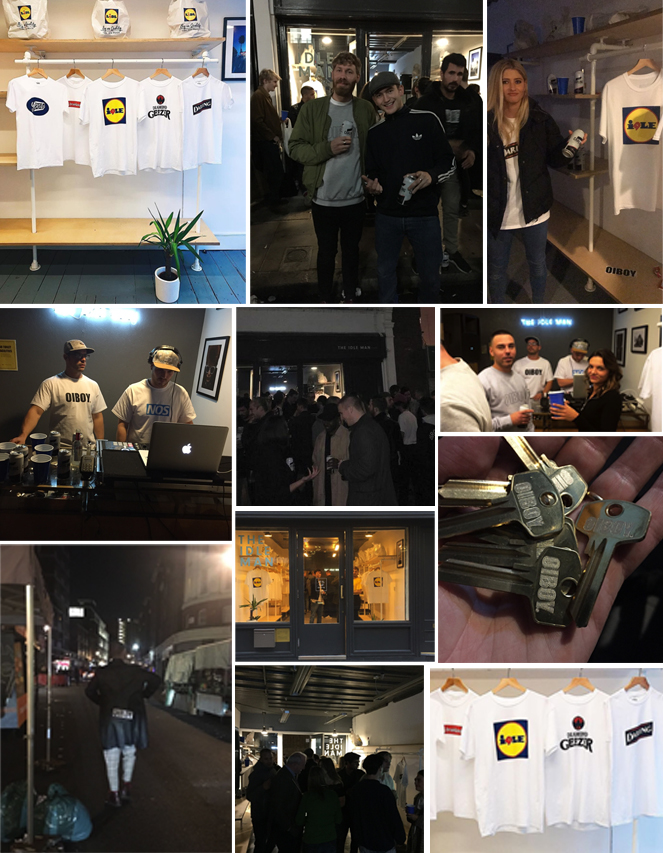 Some photos from the OIBOY x THE IDLE MAN launch party.