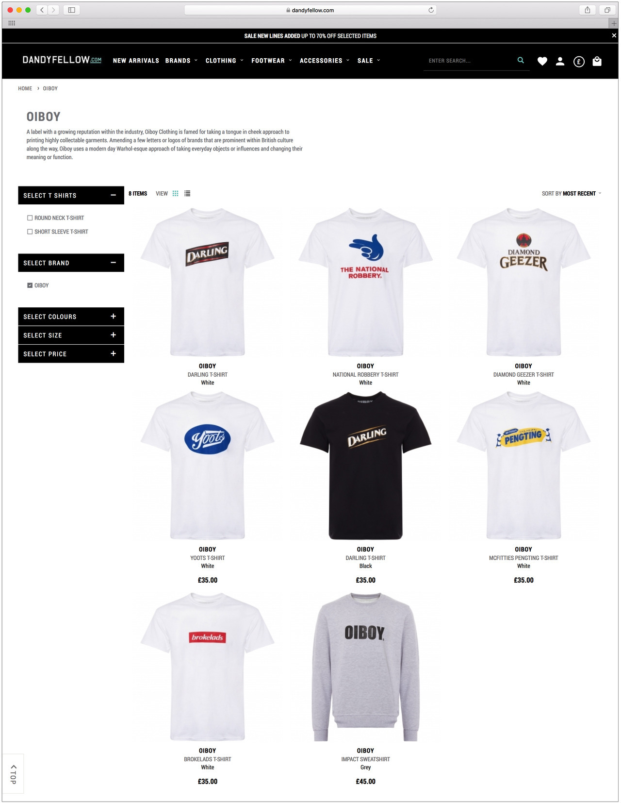 OIBOY are now stocked in DANDY FELLOW's website. See the selection here:   https://www.dandyfellow.com/oiboy-m387