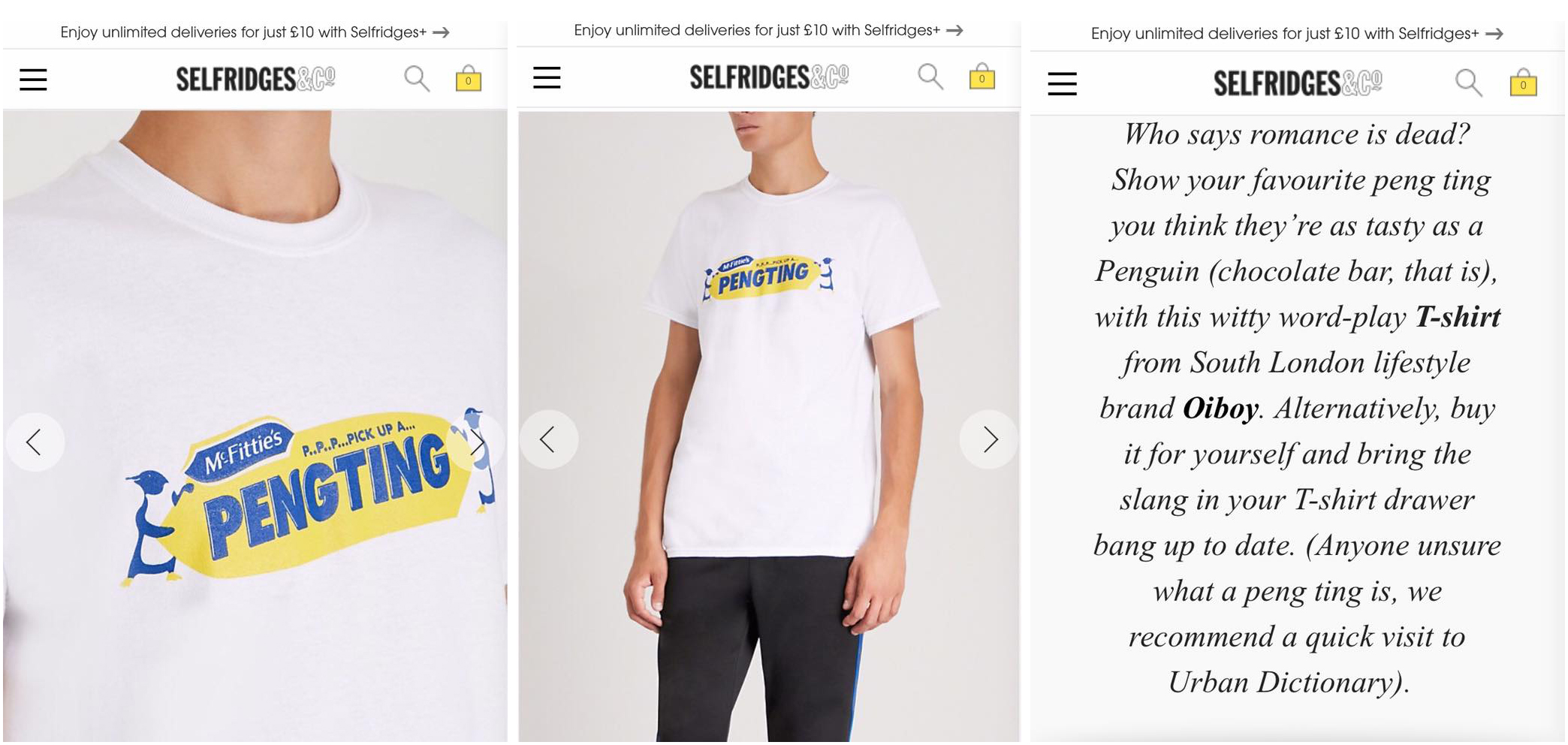 OIBOY ARE NOW STOCKED NOT ONLY IN STORE BUT ONLINE AT SELFRIDGES.