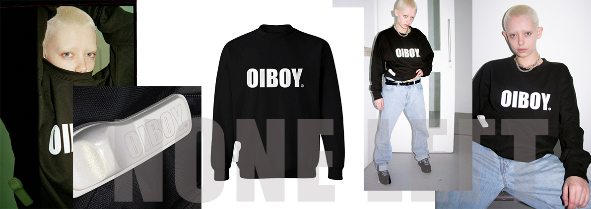 OIBOY IMPACT black sweater with OIBOY security tag, ALL SOLD OUT!