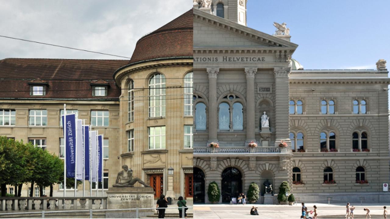 Bundeshaus und Universität - keine einfache Beziehung (Bild: reatch / Flooffy & Roland zh / Wikimedia Commons)