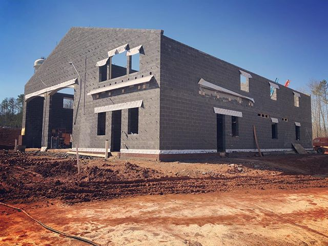 Fire Station 22 for @cityofcarrolltonga coming along quite nicely. #architecture #carrolltonga #firestation
