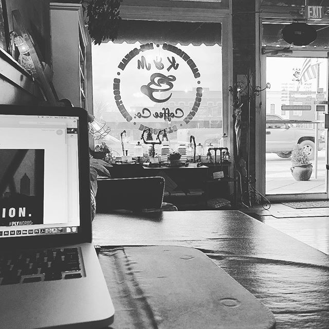 Working remotely, enjoying some coffee. #shoplocal #tallapoosa