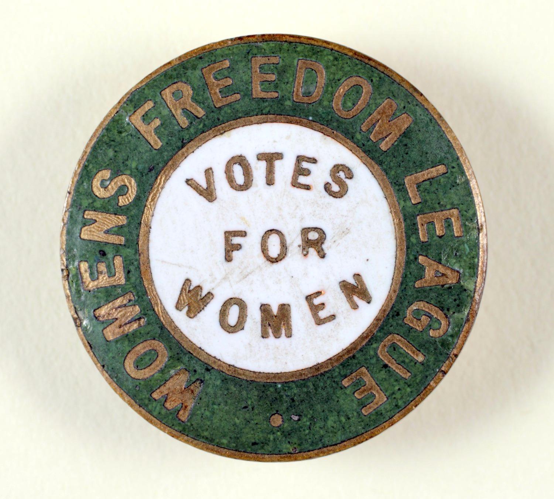 Women's Freedom League enamel badge.
