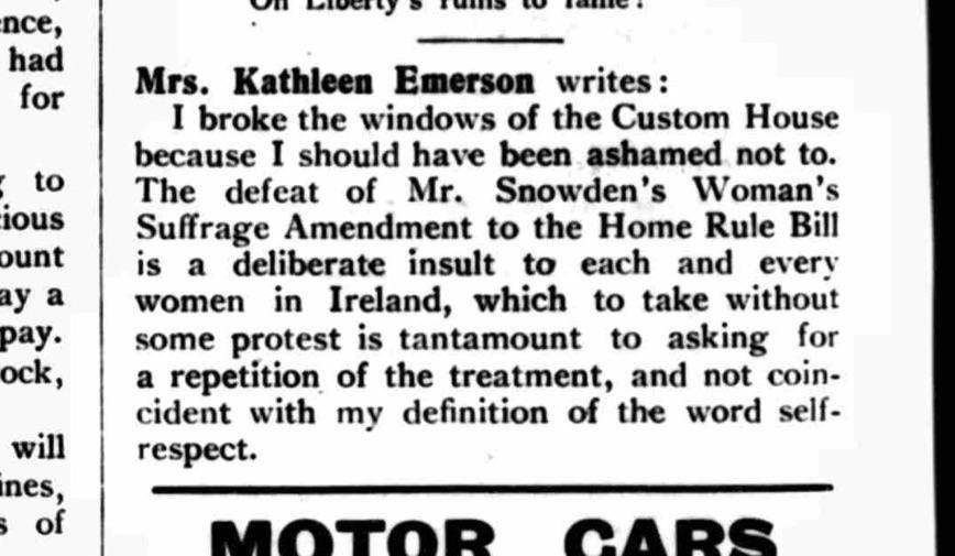 The Irish Citizen, Saturday 16 November 1912. British Newspaper Archive.