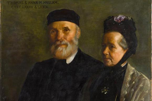 Thomas and Anna Haslam by Sarah Harrison, 1908. Hugh Lane Gallery Dublin.