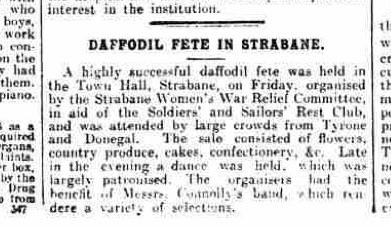 Strabane in May 1916. The Belfast Newsletter.