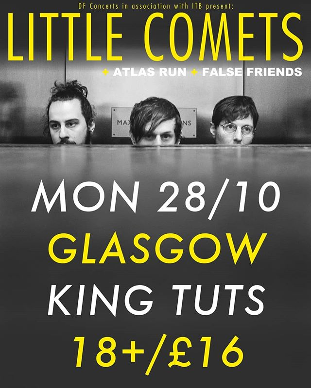 Glasgooow, beyond buzzing for this next show!  We'll be tearing it up alongside @falsefriendsmusic supporting @littlecomets 🤘 you don't want to miss out.  Tickets available now from the link in our bio.