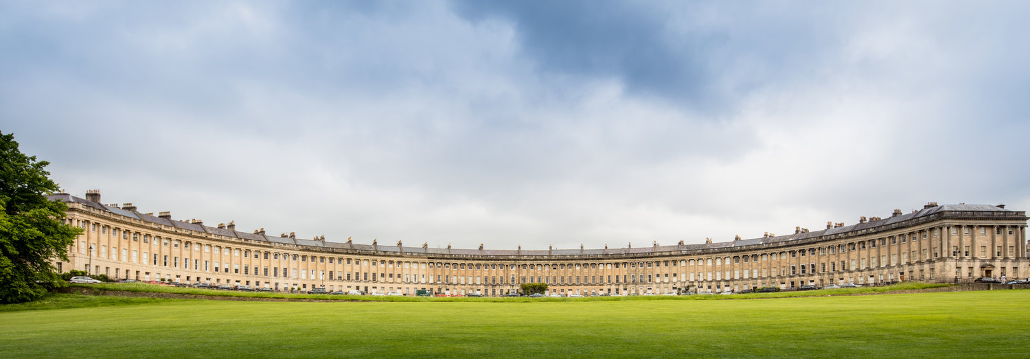 The Royal Crescent, Bath. Photo by  Michael D Beckwith  on  Unsplash .