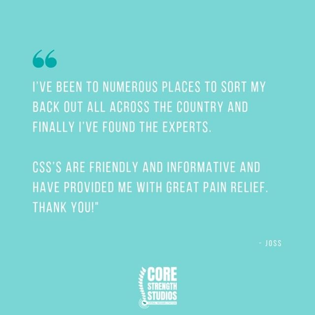 Back pain management isn't a 'one size fits all' solution.  Sometimes you need to try a variety of options before you find the one which works for you. Joss did just that and we're pleased to have been able to help him find a solution.  #corestrengthstudios #bristol #backpain #backpainrelief #bristolbloggers #bristolbusiness #bristolfitness #bristollife #bristolphysio #bristolpersonaltrainer #corestrength #engageyourcore #physio #physiotherapy #sportstherapy #medx #fitnessmotivation