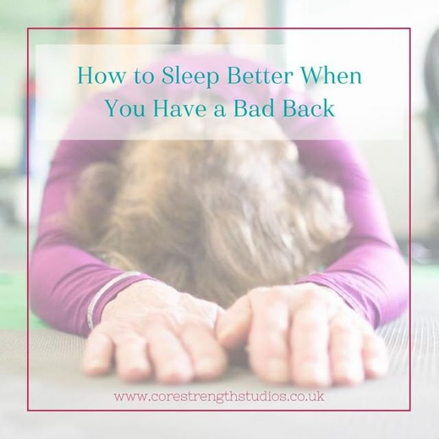 SLEEP 😴 . Sleep is vital for basic human function. It's the time when our body rests and repairs. If you have back pain, that rest and repair becomes even MORE important.  Yet, as so many people with back pain will tell you, getting comfortable enough for a decent night's kip is easier said than done.  Take a look at our post (link in bio) for tips on how to get a more restful slumber when suffering from back pain.  #corestrengthstudios #bristol #backpain #backpainrelief #bristolbloggers #bristolbusiness #bristolfitness #bristollife #bristolphysio #bristolpersonaltrainer #corestrength #engageyourcore #physio #physiotherapy #sportstherapy #medx #fitnessmotivation