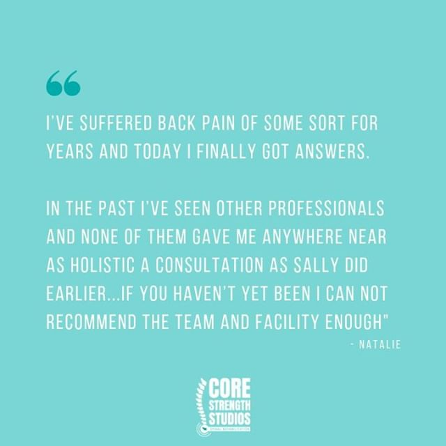 FEEDBACK  Always lovely to hear such great comments. Thanks Natalie!  #corestrengthstudios #bristol #backpain #backpainrelief #bristolbloggers #bristolbusiness #bristolfitness #bristollife #bristolphysio #bristolpersonaltrainer #corestrength #engageyourcore #physio #physiotherapy #sportstherapy #medx #fitnessmotivation