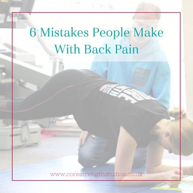 MISTAKES 😬 .. It's difficult to know what to do for the best when you have back pain. Take a look at our post (link in bio) to read about the 6 common mistakes people with back pain make, and make sure you don't follow suit! .. #backpain #corestrengthstudios #corestrength #sciatica #bristol #backpainrelief #bristolbusiness #bristolfitness #bristollife #bristolphysio #engageyourcore #medx #sportstherapy