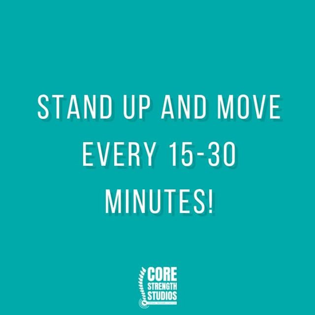 MOVE 🚶‍♀️ .. Even if it's just standing up and having a quick stretch, studies show that if you're sitting down all day, getting up and moving every 15-30 minutes is proven to reduce the pressure on your discs .. #corestrengthstudios #bristol #backpain #backpainrelief #bristolbloggers #bristolbusiness #bristolfitness #bristollife #bristolphysio #bristolpersonaltrainer #corestrength #engageyourcore #physio #physiotherapy #sportstherapy #medx #fitnessmotivation