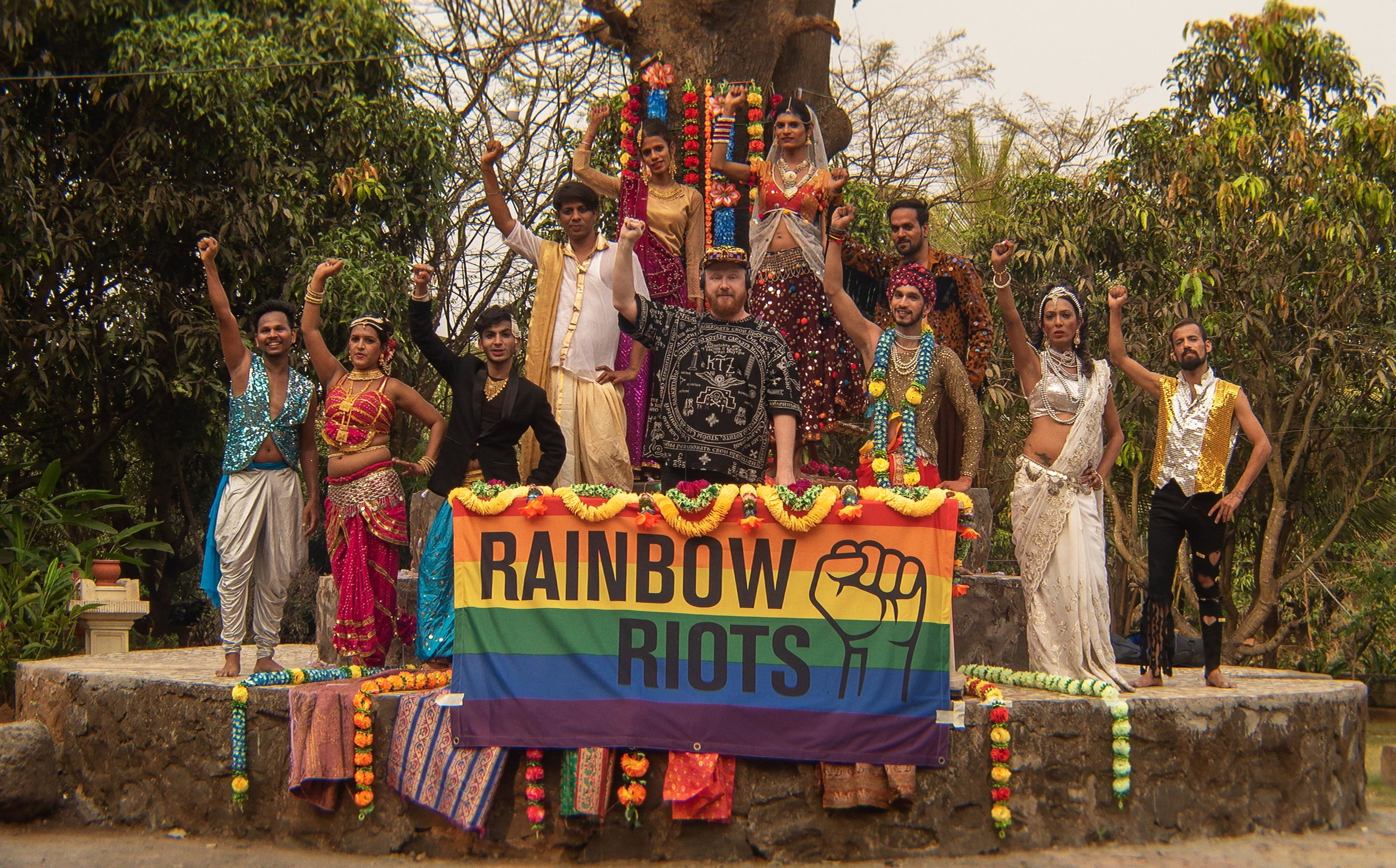 Swedish artist and activist Petter Wallenberg and India's first transgender dance group Dancing Queens, in Mumbai, India..jpg