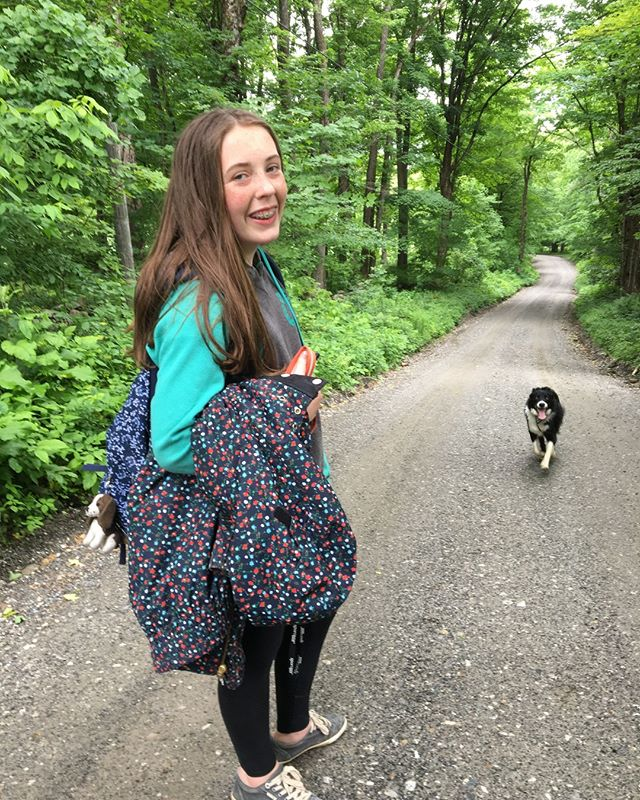 One of my girls and one of the pooches. Grateful for the beauty of the Berkshires and how walking along this path can be such a mindful activity! Stay present today y'all!⁣ .⁣ .⁣ .⁣ .⁣ #mindfulness #mindfulMonday #crispinaffrench #theberkshires #berkshiresMA #familytime #natureismyreligion⁣ #spiritjunkie #familyfirst