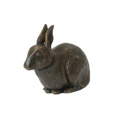 CASRA-VER  Deze leuke konijnen urn is een leuk aandenken aan uw huisdier.  Dit beeldje is uit kunsthars gegoten, is afgewerkt met een antiek bronzen finish en kan ook gecombineerd worden met een memory capsule in de bodem waarin u een aandenken kunt bewaren zoals een haarlok of foto..  CASRA-VER € 47,00 / 1000 CC