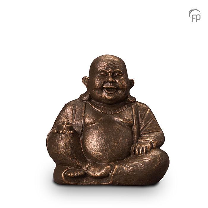 UGK 042 A   UGK 042 B  Keramische urn brons Boeddha  Elke Geert Kunen urn is uniek en wordt op bestelling gemaakt. Daarom zit er op deze producten een levertijd van 3 à 4 weken.  UGK 042 A € 299,00 / 1,50 L / H 23 CM  UGK 042 B € 599,00 / 3,50 L / H 35 CM