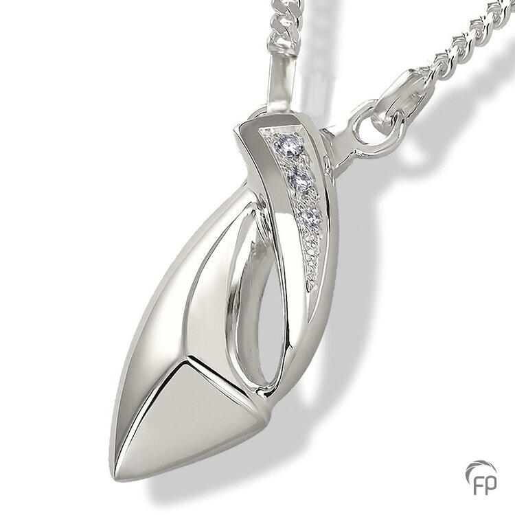 AH 012 met Zirkonia  AH 012 € 199,00 / symbolische hoeveelheid / H 3.1 CM  Bij deze sieraden in geel- en wit goud worden de Zirkonia steentjes vervangen voor echte diamanten. Prijs op aanvraag.