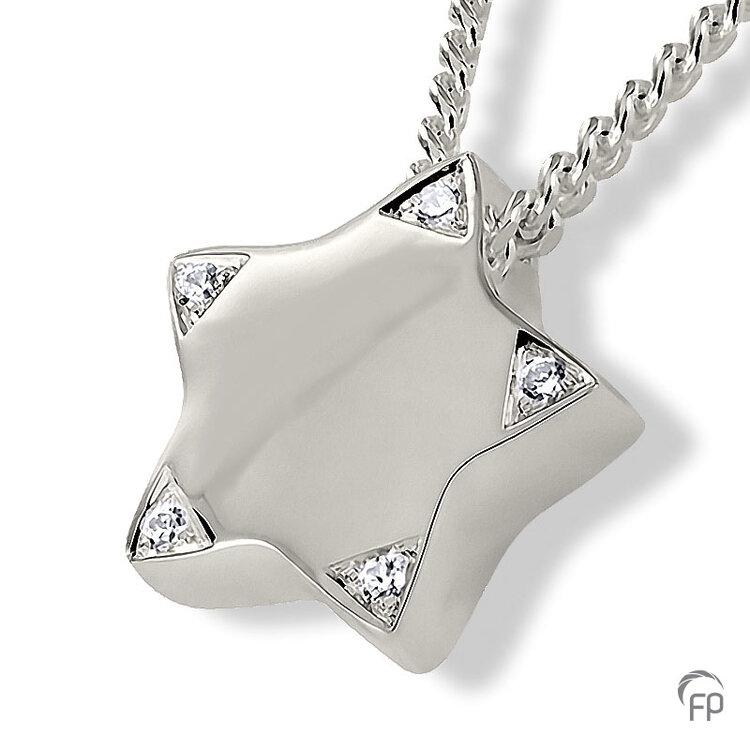 AH 079 met Zirkonia  AH 079 € 155,00 / symbolische hoeveelheid / H 1.6 CM  Bij deze sieraden in geel- en wit goud worden de Zirkonia steentjes vervangen voor echte diamanten. Prijs op aanvraag.