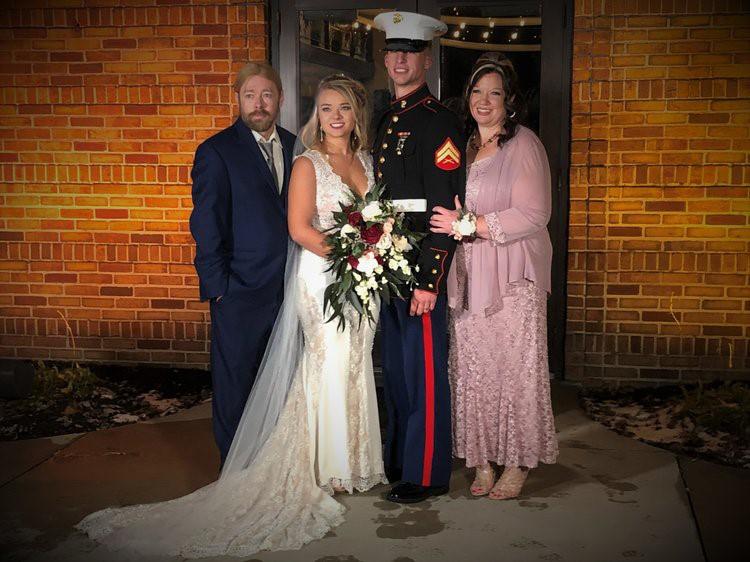 Congratulations Mr&Mrs Triplehorn!- Semper Fi