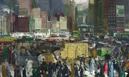 New York , George Bellows, 1911. Oil on canvas. Image courtesy of National Gallery of Art, Mellon Collection, Washington, DC.