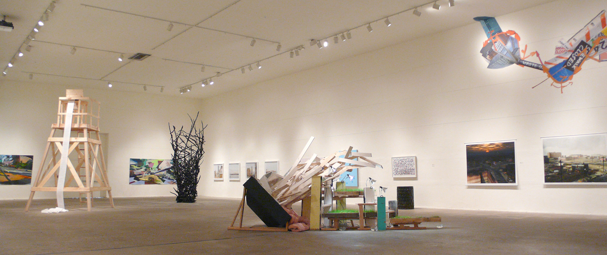 Construct at the Icebox, curated by Amie Potsic, artwork by cfeva fellows