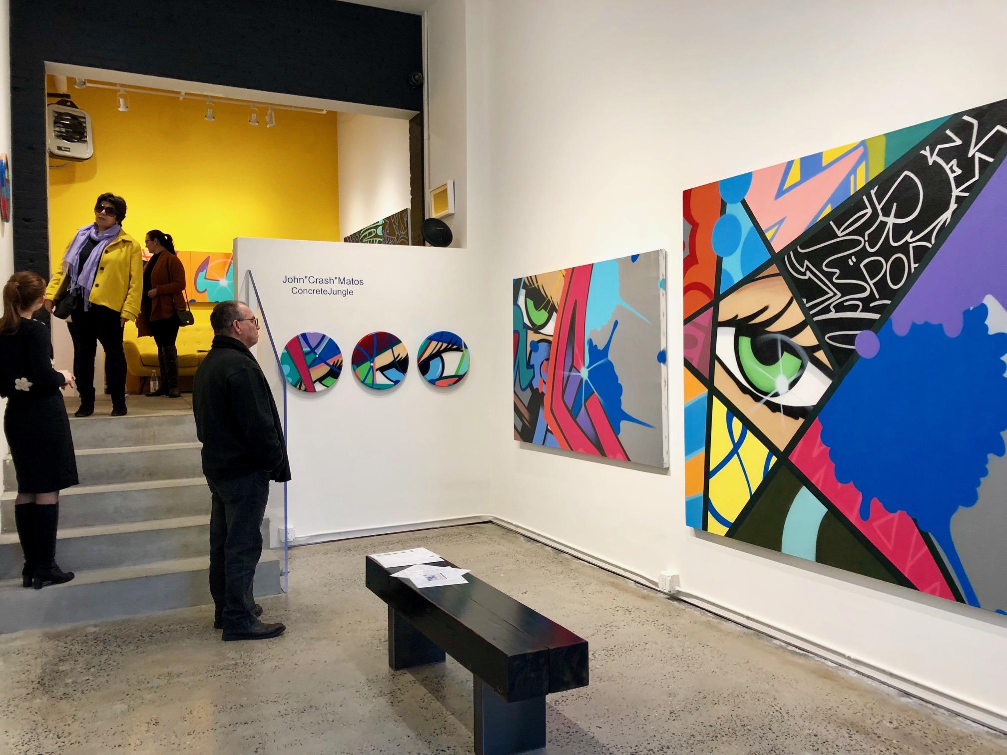 Joanne Artman Gallery, Chelsea, NY, Artwork by Crash, photograph by Amie Potsic copyright 2018