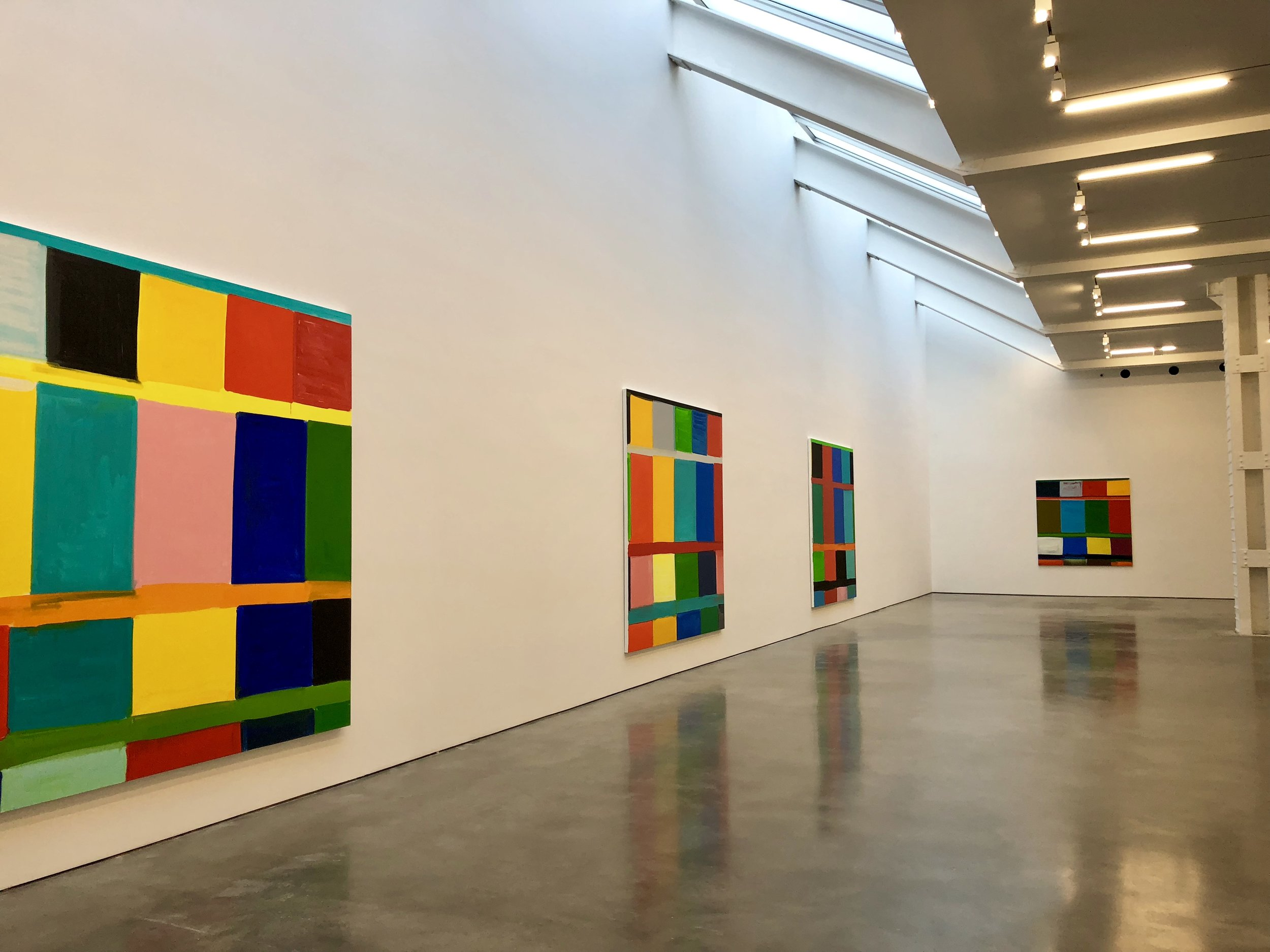 Lisson Gallery, Chelsea, NY, Artwork by Stanley Whitney, photograph by Amie Potsic copyright 2018