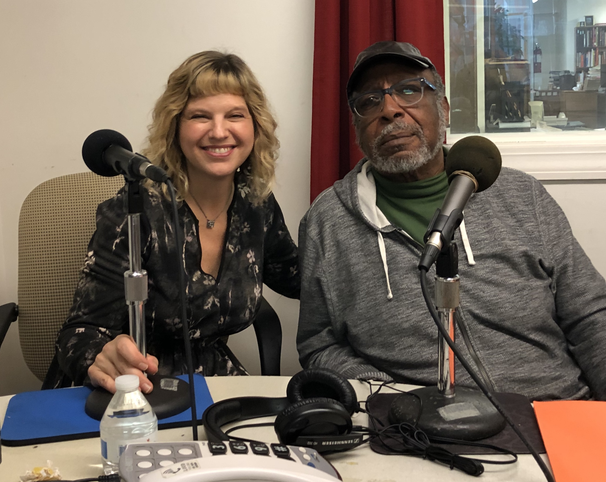 Amie Potsic and Don Camp at WCHE 1520 Radio Studio in West Chester