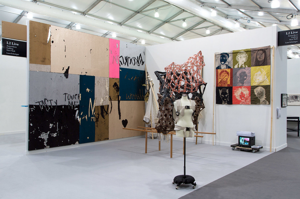Anton Kern Gallery's booth at Frieze,