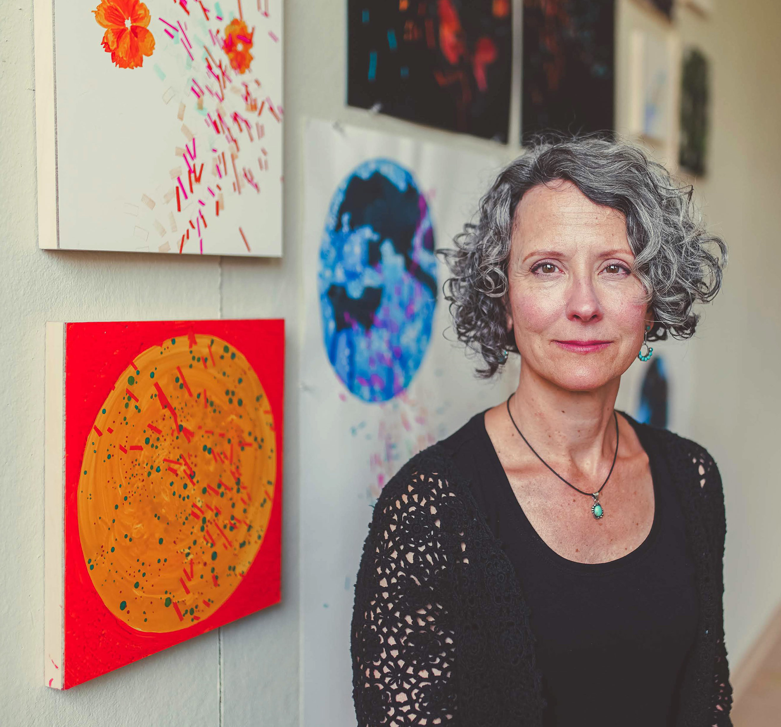 Photograph of Deirdre Murphy at Esther Klein Gallery by Blake Reisenfeld