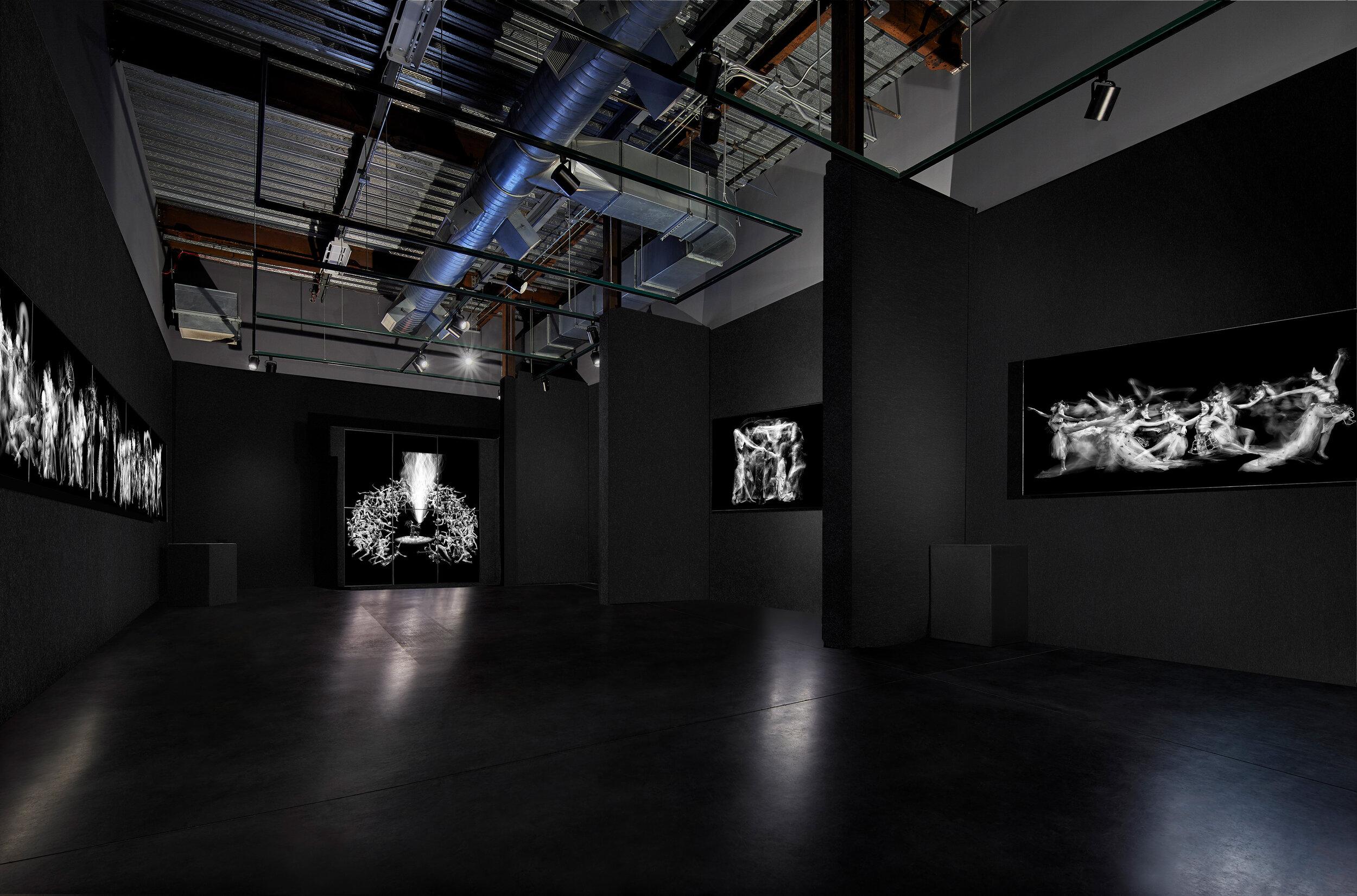 Installation View - The Delaware Contemporary,  John Singletary, OLED Multimedia/Sound Installation,  Photo Credit: Rick Wright