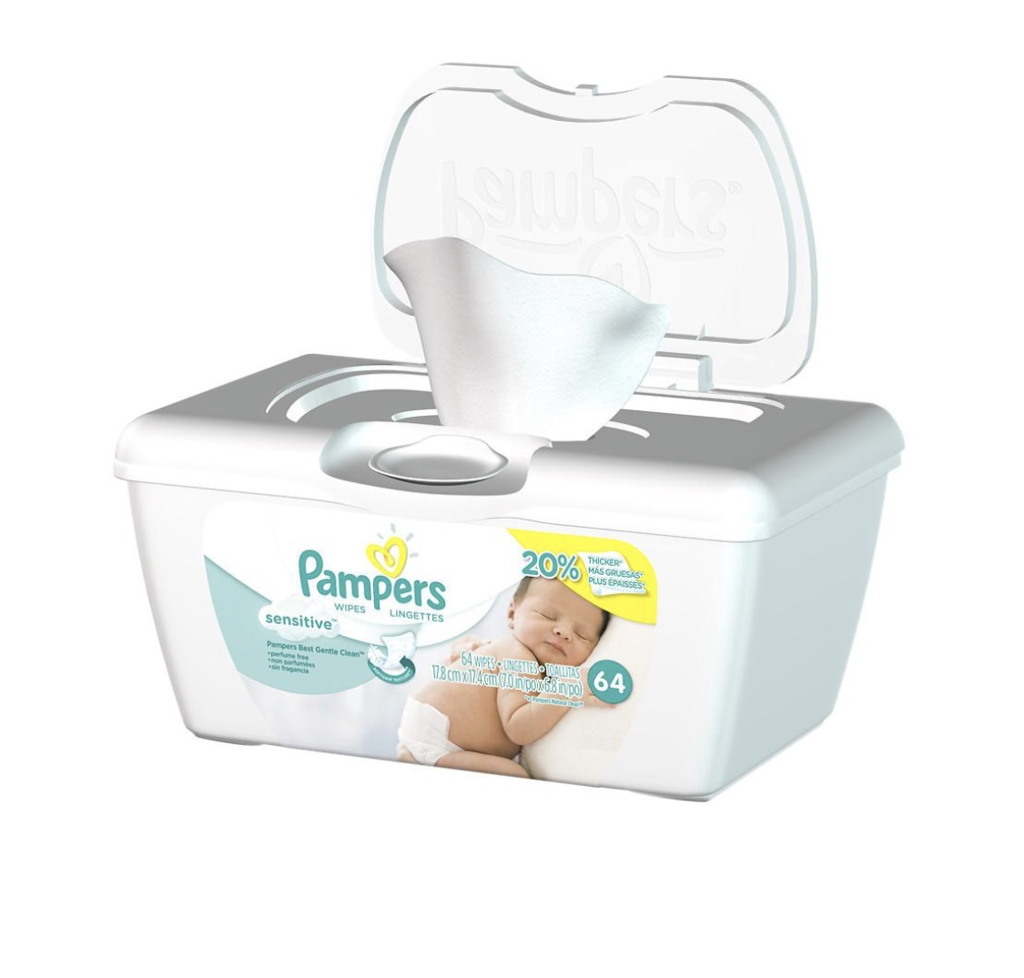 Pampers Sensitive Baby Wipes - Price: $4You can't shower. You can't use deodorant. You'll want these!!