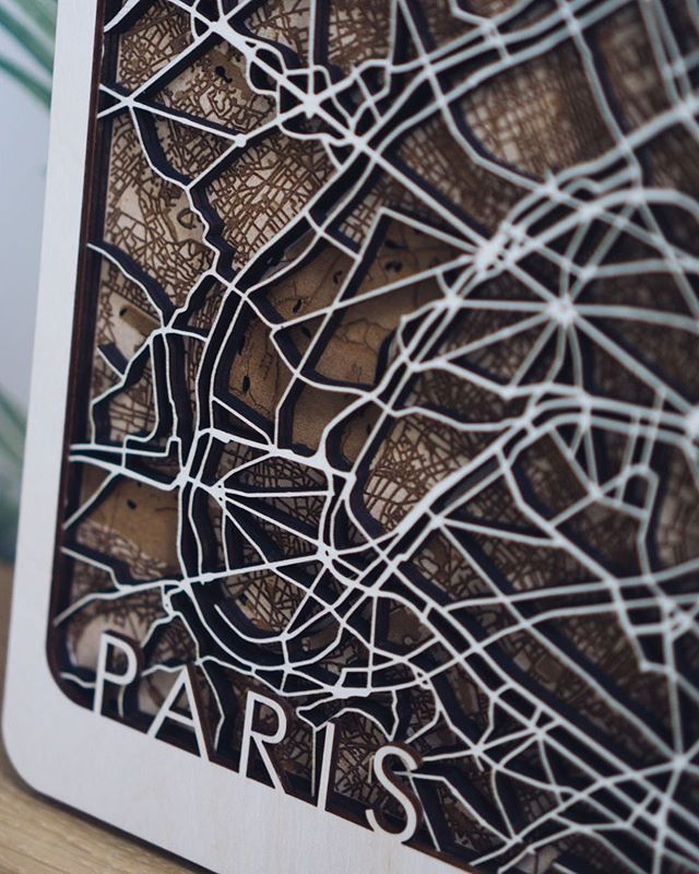 Paris. This is the design that won the 2018 British Cartography awards and the Garsdale design award for 3d mapping