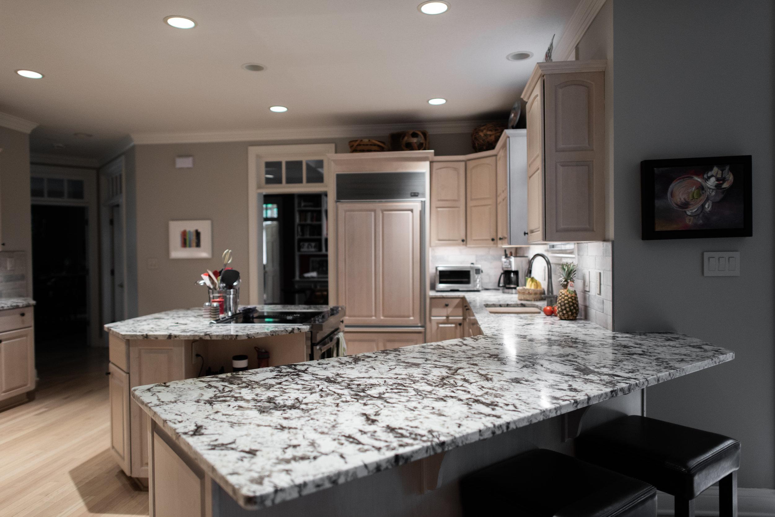 Lumi White Suede Granite