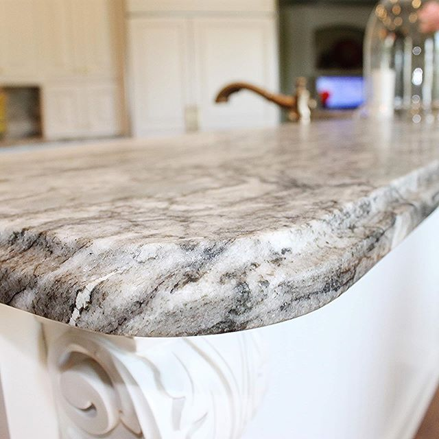 Out with the old, in with the new! This gorgeous kitchen was just completed using Fantasy Brown Suede Marble for both the counter tops and the stunning full height splash . . . #marble #kitchen #countertops #fantasybrownsuede #inspo #design #olympiastone #fullheightsplash