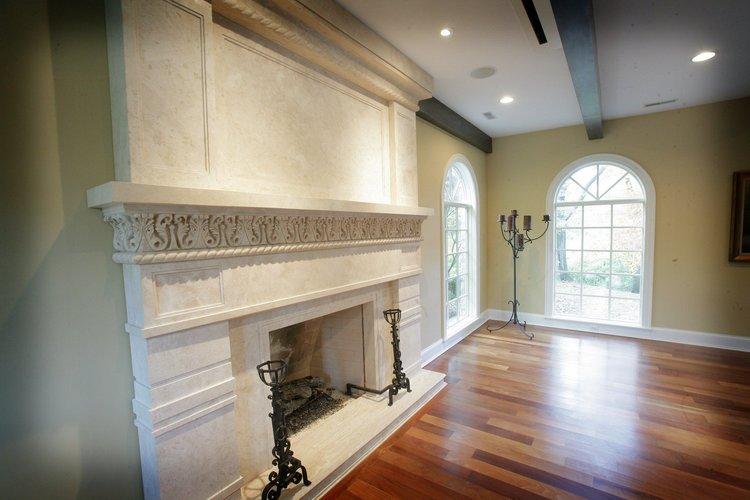 White Granite Fireplace