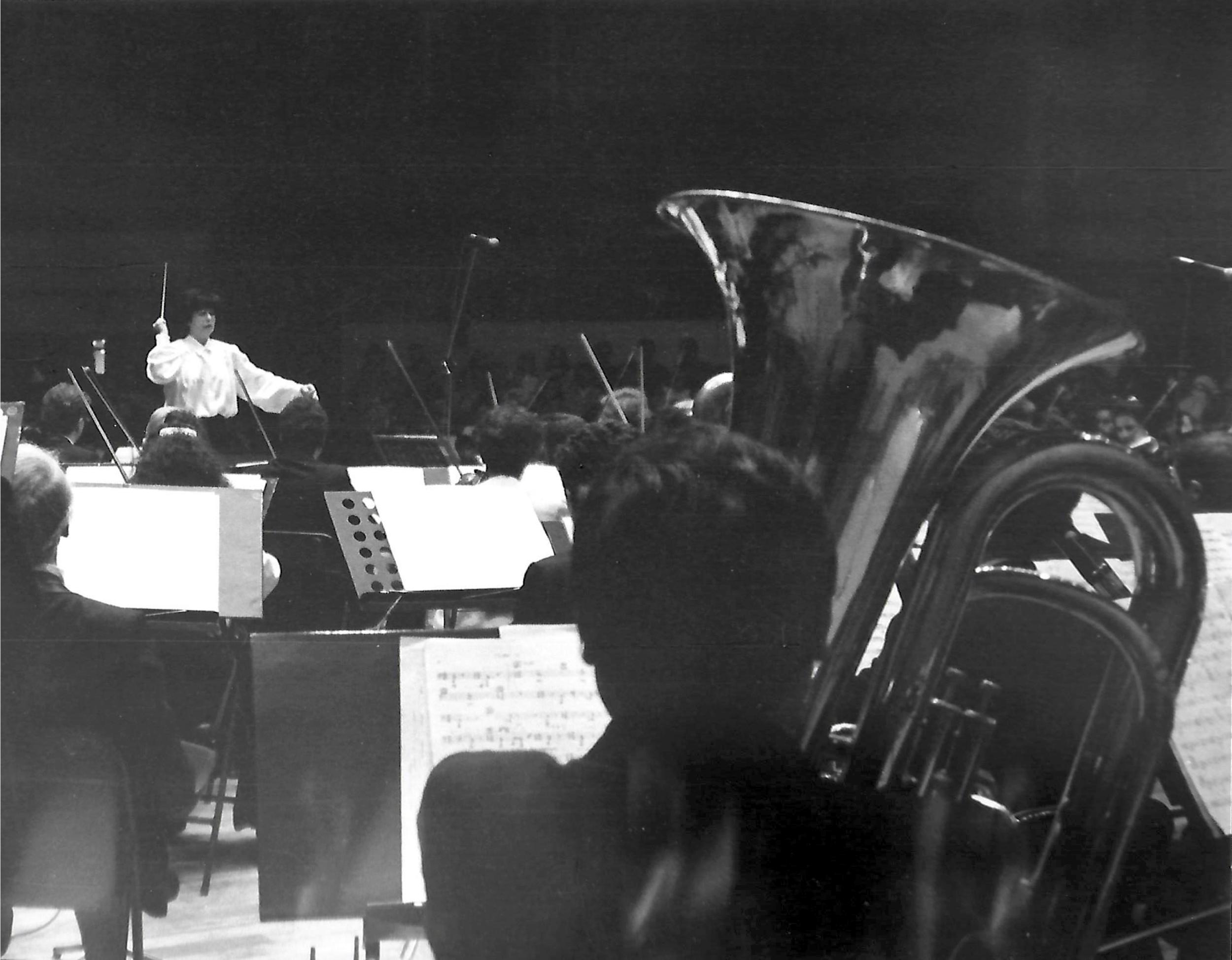 Bogota Philharmonic at the Leon de Greiff Hall, Bogota.  Photo by Maldonado
