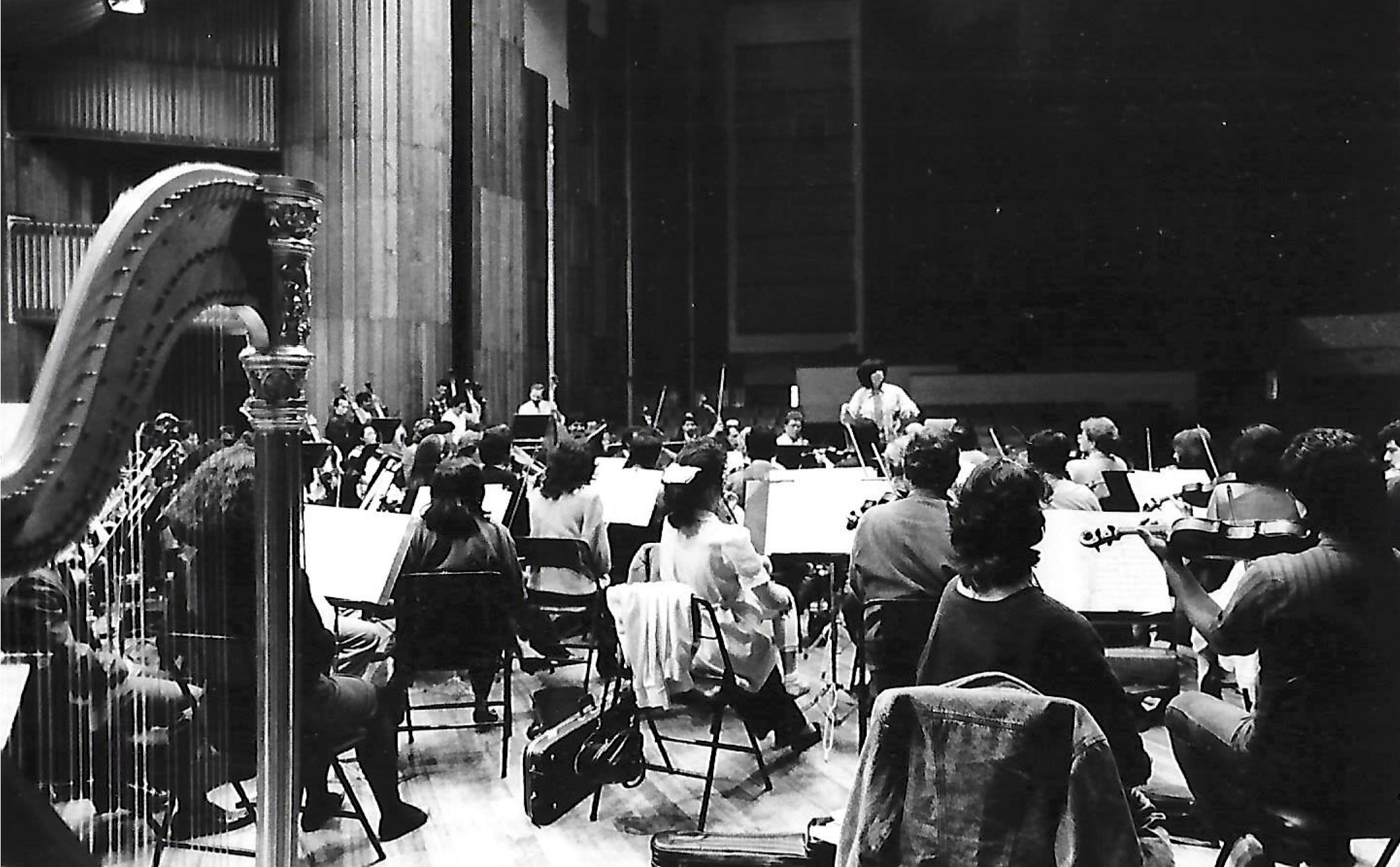 Bogota Philharmonic at the Leon de Greiff Hall, Bogota.  Photo by Baez